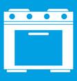 gas stove icon white vector image vector image