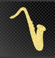 gold glitter saxophone golden sparcle vector image vector image