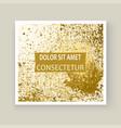 gold paint splash splatter explosion glitter vector image