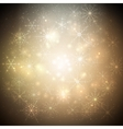 Golden Christmas background with glowing shiny vector image