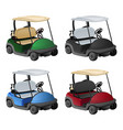 golf car 4 color vector image vector image