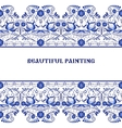Gzhel style background Border pattern of Chinese vector image vector image