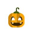 halloween pumpkin character design vector image vector image