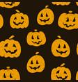 halloween seamless pattern design with pumpkins vector image