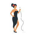 jazz young singer vector image vector image