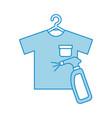 laundry garments with splash bottle vector image vector image