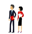 Male and Female as Office Businesspeople Icon vector image vector image