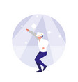 man dancer of disco avatar character vector image vector image