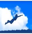 man jumping vector image vector image