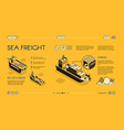 maritime cargo transport service website vector image vector image