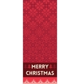 Merry Christmas banner with snowflakes in knitted vector image