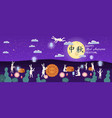 mid-autumn festival moon cake festival hares are vector image vector image