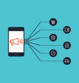 mobile marketing e-commerce business concept vector image