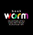 modern colorful font design vector image