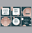modern sales banners social media vector image