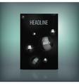 Molecule Brochure 02 A vector image vector image