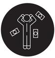 money question man black concept icon vector image vector image