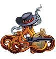octopus outlaw vector image vector image