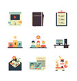 project management icon business product planning vector image vector image