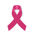 realistic breast cancer icon with pink awareness vector image vector image