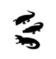 Reptile Silhouettes vector image vector image