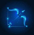 sagittarius sign blue star horoscope vector image vector image