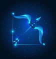 sagittarius zodiac sign blue star horoscope vector image vector image