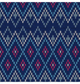 Seamless Ornamental Male Style Knitted Pattern vector image vector image