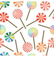 seamless pattern of lollipops - christmas vector image vector image