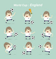 Set character football actions player england