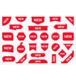 set new stickers sale tags and labels shopping vector image vector image
