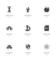set of 9 editable knowledge icons includes vector image