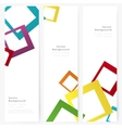 Set of abstract template banner vector image vector image