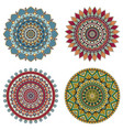 set of color floral mandalas vector image vector image