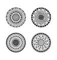 set of four mandalas ethnic decorative mandala vector image vector image