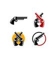set of guns logo template vector image
