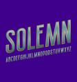 solemn alphabet blue metallic golden font vector image vector image