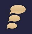 Speech bubbles made in carton texture vector image vector image