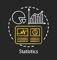 statistics study scientific research chalk vector image