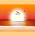 sun with reflection in water vector image