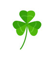 three leaf clover isolated on white background vector image