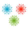Three stars vector image vector image