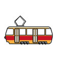 tram wagon with special metal antenna isolated vector image