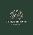 tree brain branch think smart logo icon vector image vector image