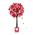 Tree of love in pot for your design vector | Price: 1 Credit (USD $1)
