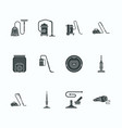 vacuum cleaners flat glyph icons different vector image vector image