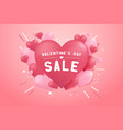valentines day sale background with heart balloon vector image vector image