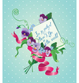 Vintage card flowers ribbon and old paper peace wi vector image vector image