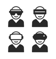 virtual and augmented reality icon set vector image vector image