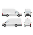 white cargo van car template in different angles vector image